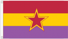 Spain GRAPO 1st October Anti-Fascist Resistance Groups Republican 5'x3' (150cm x 90cm) Flag
